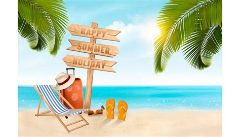 Vacation Background Images by Summer Vacation Background Vector Illustrations