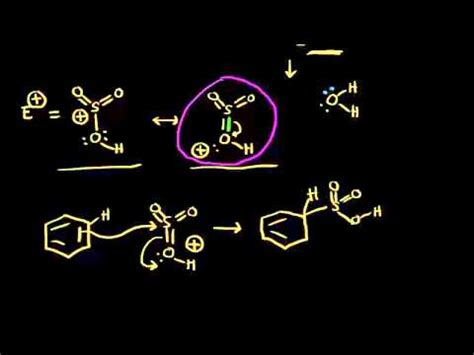 sulfonation video aromatic compounds khan academy