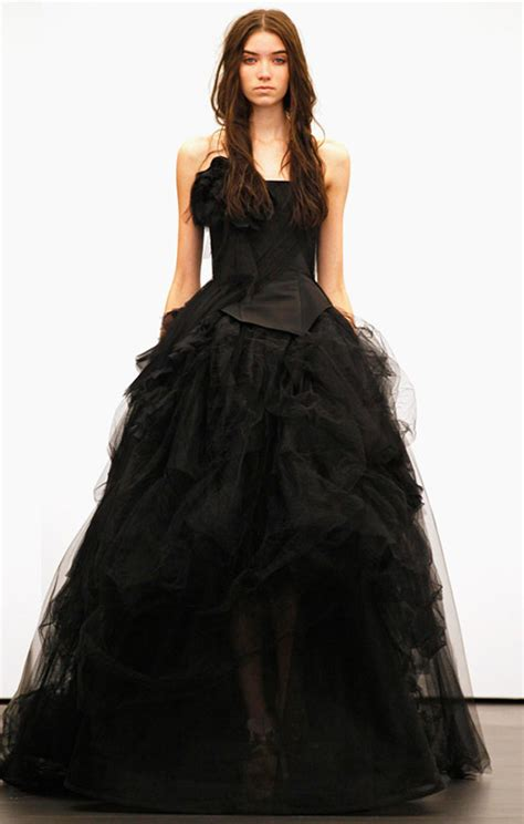 black wedding dresses dressed  girl