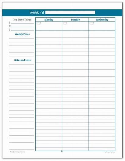 Weekly Planner Simple Printable Cobalt Printables Personal