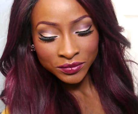 burgundy hair color  black women hairstyle  black women