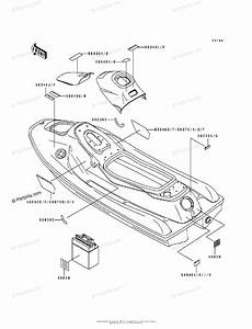 Kawasaki Jet Ski 1995 Oem Parts Diagram For Labels