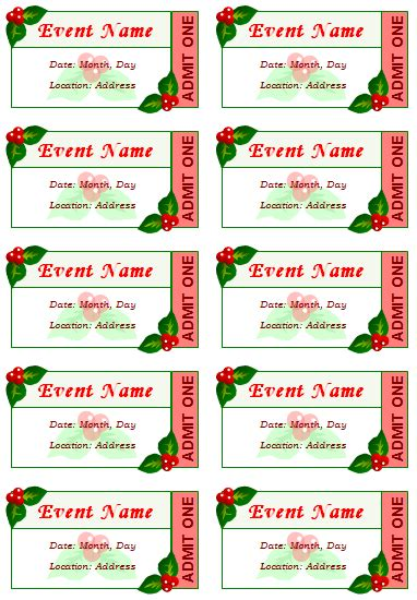 dinner ticket template word diy 12 free event ticket templates for word make your own