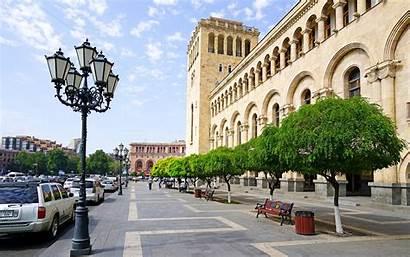 Yerevan Armenia Capital Cities Street Lights Erevan