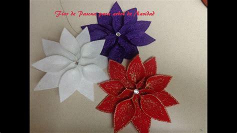diy manualidades navidad flor de pascua decorar el arbol de navidad youtube