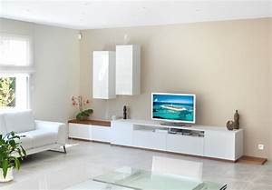 meuble tv long blanc meuble tv blanc peinture grise et With meubles tv sur mesure
