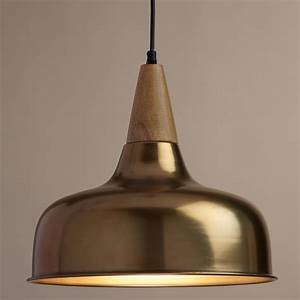 Brass and wood glenn pendant lamp world market