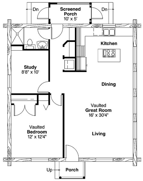 1 bedroom cabin plans simple one bedroom house plans home plans homepw00769