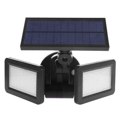 new waterproof dual head 48led solar outdoor wall light motion sensor spotlight for outdoor
