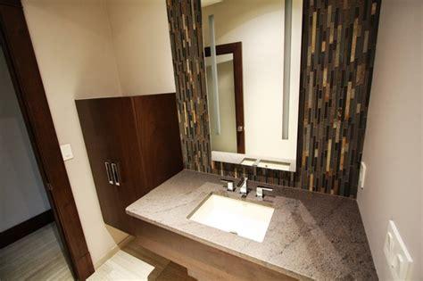 Modern Bathroom Tile Backsplash by Glass Tile Backsplash Modern Bathroom Cleveland By