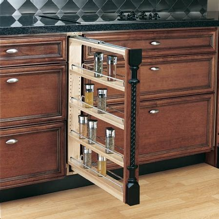 base cabinet pull out spice rack 3 6 or 9 wide - Cabinet Spice Rack Pull Out