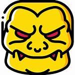 Monster Emojis Horror Scary Halloween Icon Creepy