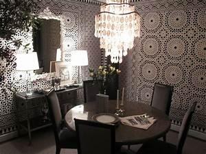 papiers peints originaux pour la salle a manger en 35 idees With salle À manger contemporaine avec objet original deco