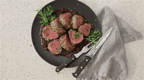 Peppery tender beef meets citrusy butter herb sauce for a match made in heaven. Slow-Roasted Beef Tenderloin with Red Wine Mushroom Sauce ...