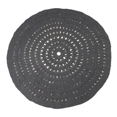 Tapis Rond Crochet Gris by Tapis Rond Crochet Gris Anthracite Naco D 233 Coration