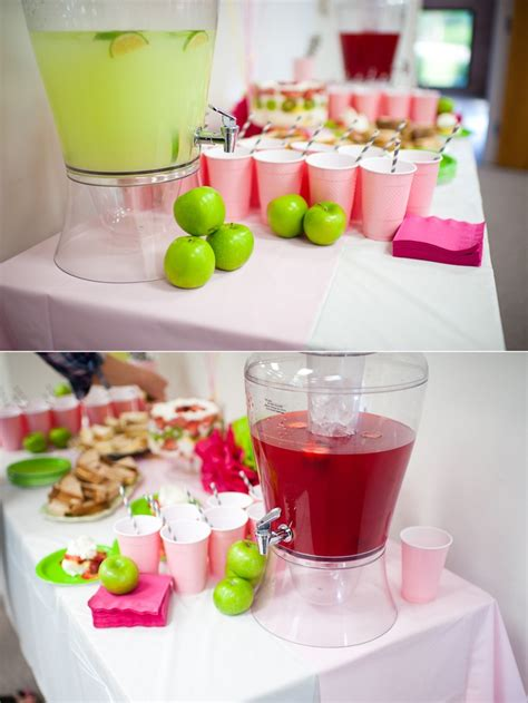 Pink Green Yellow Baby Shower by Baby Shower Green Apples Awesome Ideas For Nene Pink And