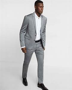 Skinny Innovator Gray Wool Blend Oxford Suit Pant | Express