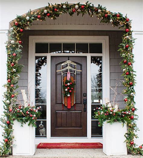 pretty christmas door decorations  homes gardens