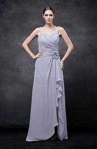 lavender romantic illusion backless chiffon flower wedding With romantic dresses for wedding guests