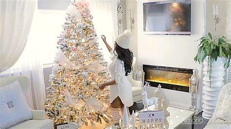 blush pink white christmas decorating ideas decorate