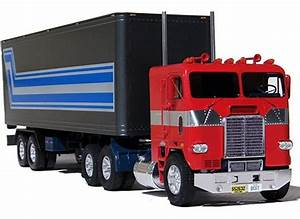 Optimus Prime's new model and another black semi-truck ...