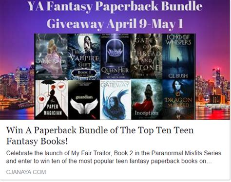 guardian included  top ten ya fantasy books giveaway