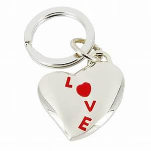 Porte Clé Coeur : porte cl s coeur love rouge une id e de cadeau original amikado ~ Teatrodelosmanantiales.com Idées de Décoration