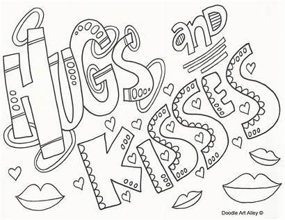 Coloring Doodle Valentines Alley Valentine Doodles Hugs