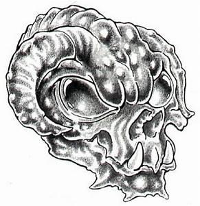 Skull tattoos in paper