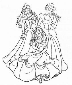 Ausmalbilder, Disney, Prinzessinnen