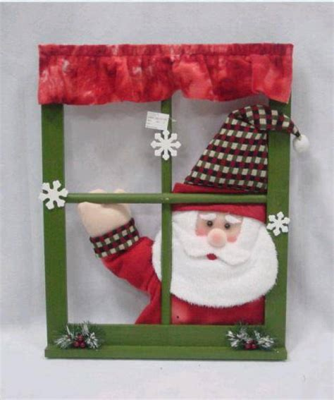 swing hand singing santa window frame christmas