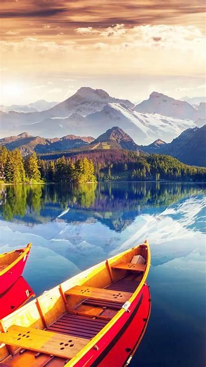Lake 8k Boat Sky Wallpapers Nature Colors