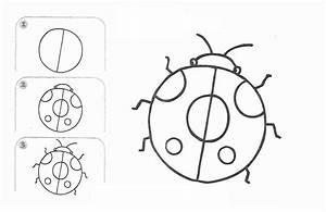 Free learn draw cartoon ladybug page,free printable kids ...