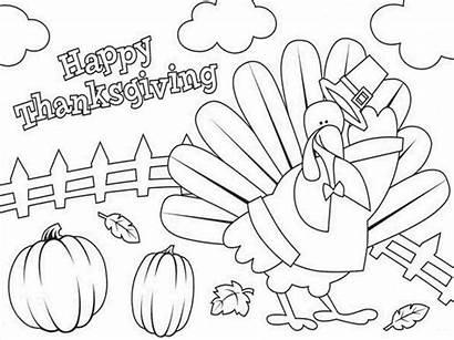 Printable Coloring Thanksgiving Pages Turkey Kindergarten Worksheets