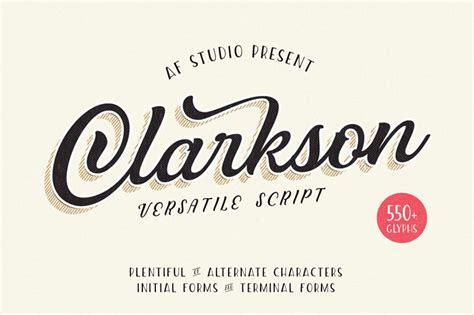 clarkson script font  af studio