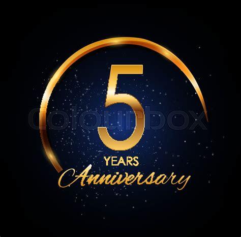 template logo  year anniversary stock vector colourbox