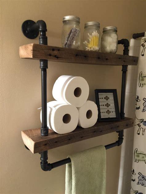 reclaimed barn wood bathroom shelves    barn