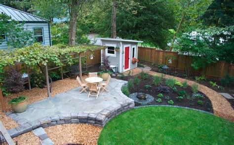 backyard hardscapes hardscape backyard layouts pinterest
