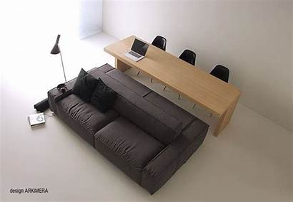 Sofa Dining Cum Double Sided Table Spaces