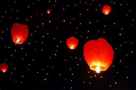 floating lanterns free stock photo domain pictures