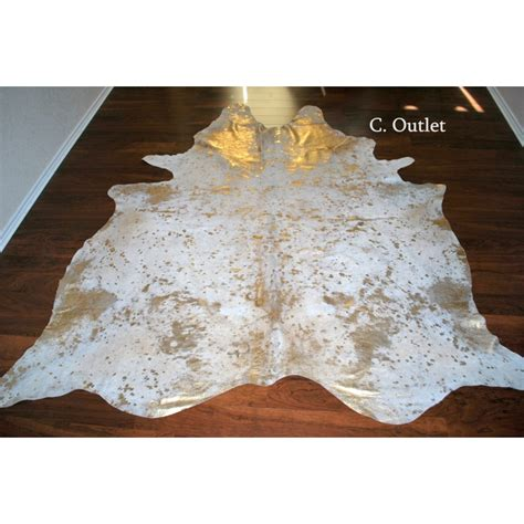 How To Wash A Cowhide Rug by Cowhide Rug Acid Wash Gold Large