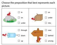 grade preposition worksheets  grade  leftwings