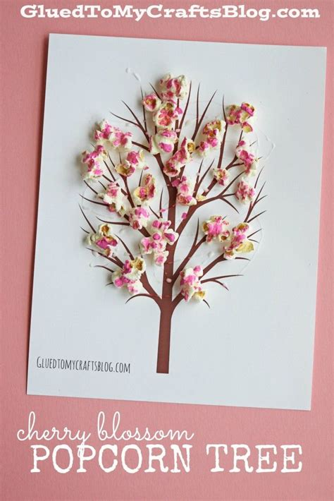 cherry blossom popcorn tree kid craft w free printable 375   48912eb5d6bcdd85c7f4e618c6289b21