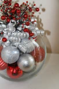 unique christmas centerpiece red and silver holiday decor