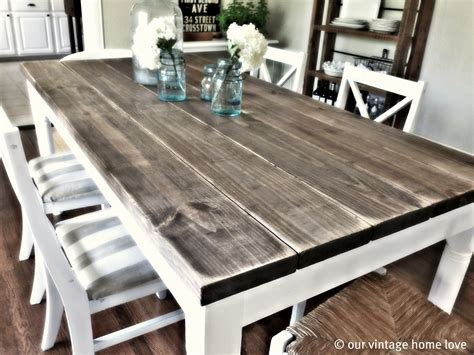 Vintage Home Love Dining Room Table Tutorial. Small 2 Person Kitchen Table. Kitchen Island Plans Free. Kitchen Island Countertop Overhang. Black Or White Kitchen Cabinets
