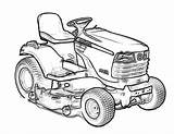 Coloring Deere John Tractor Drawing Traktor Lawn Mower Kosiarka Easy Promising Birijus 1024 Inspiration Kolorowanka Popular sketch template