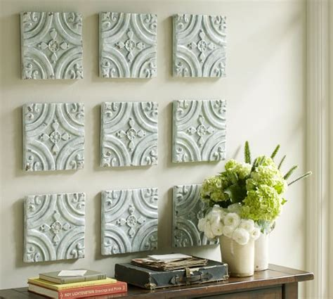 wall decor tiles blue ceramic tile wall art pottery barn