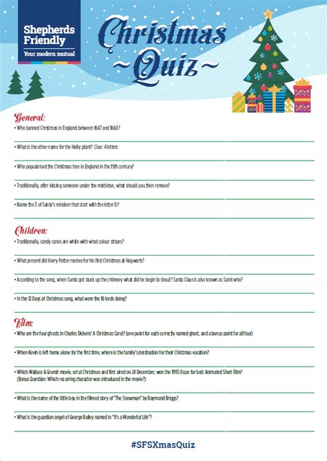 Christmas Quiz For The Family [printable]