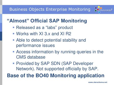 monitoring options for sap businessobjects