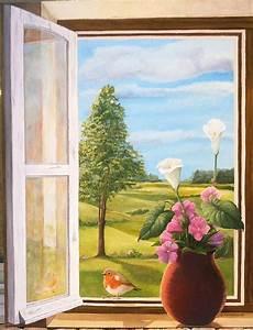 Image Trompe L Oeil : trompe l 39 oeil au rouge gorge ~ Melissatoandfro.com Idées de Décoration